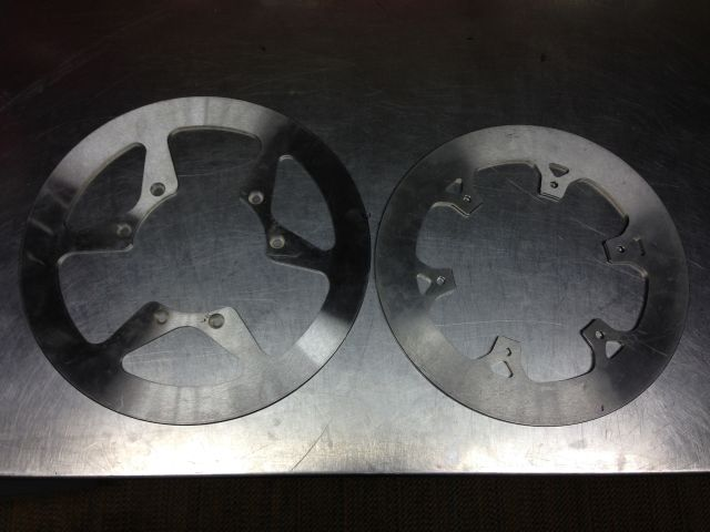HRC brake disks solid rotors mud